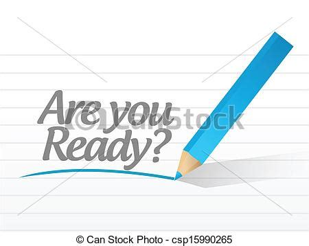 Are you ready question message illustration design over white.