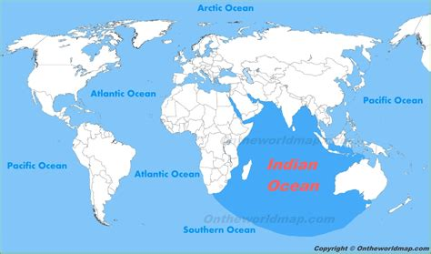indian ocean location   world map