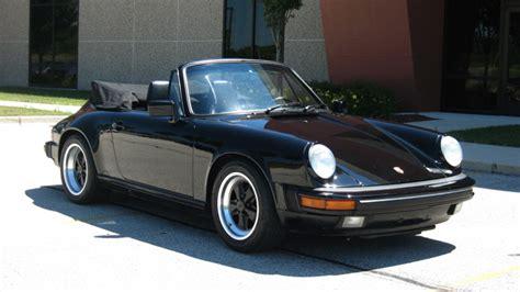 porsche 911 convertible black 1988 porsche 911 carrera cabriolet black black 90 199
