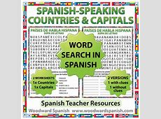Spanishspeaking Countries and Capitals Word Search – Sopa