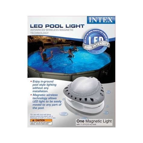 Intex Pool Light by Intex Above Ground Led Magnetic Pool Light 56687e