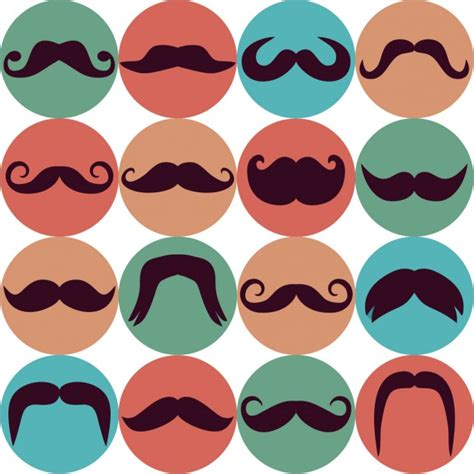 mustache background moustache icons background vector free