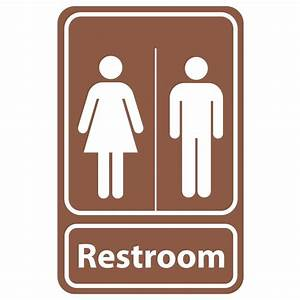 Rectangular Plastic Restroom Sign-PSE-0057 - The Home Depot