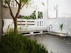 jardiniere en palette de bois 74 modeles a faire soi meme With déco chambre bébé pas cher avec livraison plantes