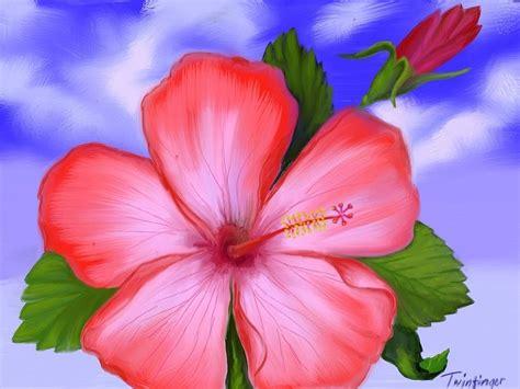 Gumamela Painting By Twinfinger