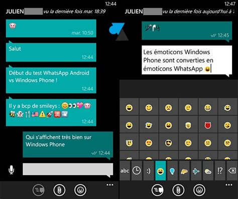whatsapp comparatif android et windows phone windowsfacile fr