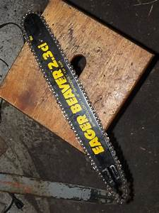 18 U0026quot  3  8 Mini Pitch Mcculloch Chainsaw Bar And Chain Used