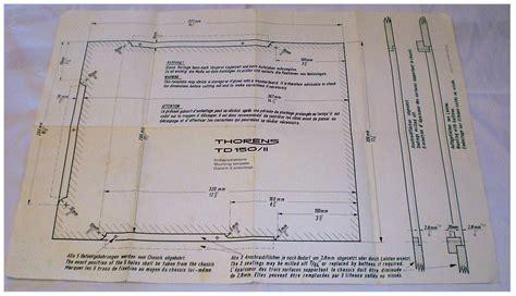 Thorens Td 125 Armboard Template manuals