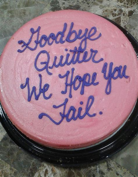 hilarious farewell cakes  employees received