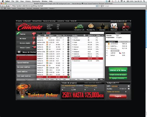 promote caliente poker  licensed  poker room  mexico