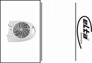 Elta Fan Electrical Fan Heater User Guide