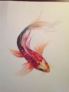 """Watercolor Painting """"Koi Fish"""" 9"""" x 12"""": Original ..."""