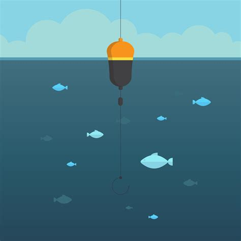deep sea fishing illustration   vector art