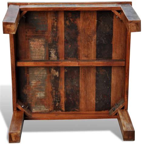 Rustic barnwood coffee table wayfair. vidaXL Coffee Table Square Solid Reclaimed Wood Vintage Side Recycled End   Buy Coffee Tables ...