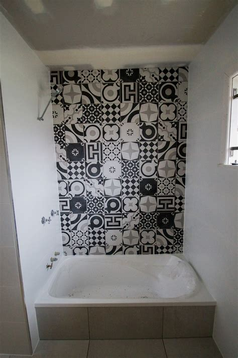 Bathroom Feature Tile by Bathroom Black White Feature Seq Tiling And Cladding Service