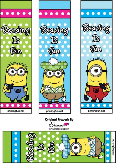 free printable bookmarks free printables and activities from the animated despicable me skgaleana