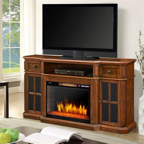 Sinclair 60 Media Fireplace With Cabinet Lighting