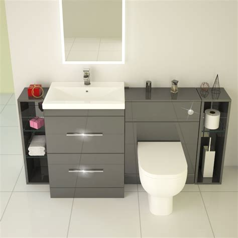 patello  fitted bathroom furniture grey buy