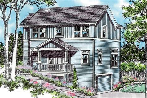 Open Craftsman Plan For Sloped Lot