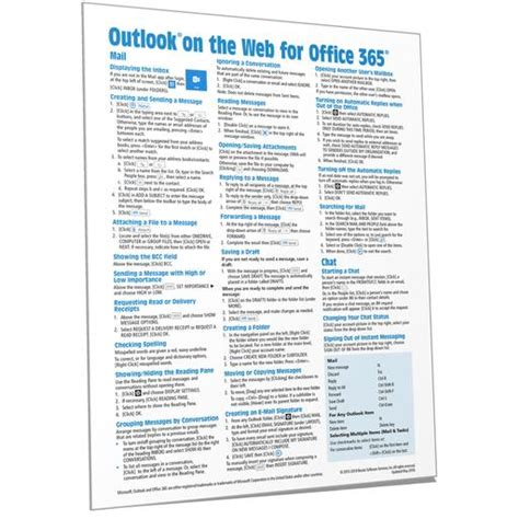 Office 365 Reference Guide by Office 365 Reference Guides Cards Sheets