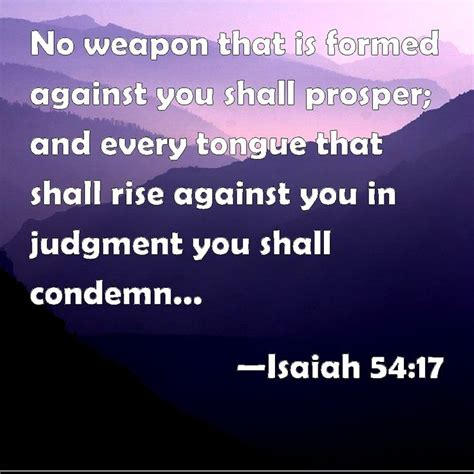 isaiah 54 no weapon that is formed against you shall prosper and every tongue that shall