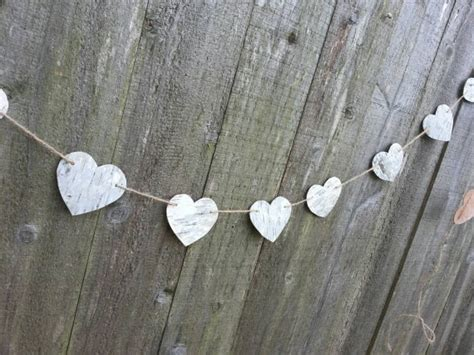 birch bark heart garland birch bark wedding