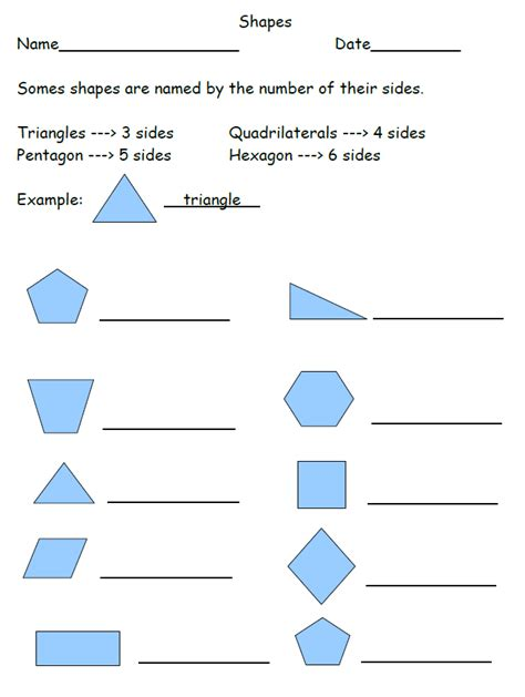 Identifying Symbols Worksheet