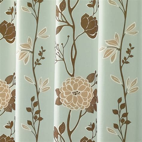 Blue And Brown Shower Curtain Fabric by Cassandra Blue And Brown Floral Fabric Shower Curtain By M