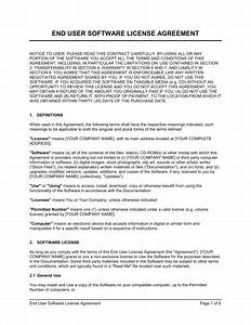 end user software license agreement b2c template With software license agreement template b2b