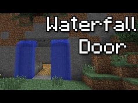 how to make a secret door in minecraft pe minecraft 1 11 waterfall doors tutorial