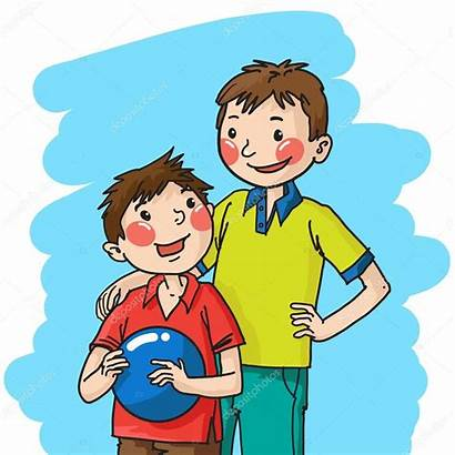 Brothers Boys Illustration Depositphotos