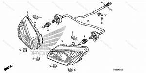 Honda Atv 2011 Oem Parts Diagram For Headlight
