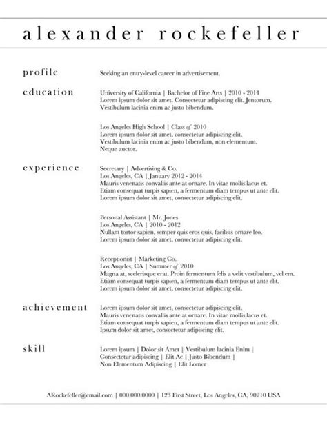 Simple Professional Resume Template by Custom Resume Template The Rockefeller By
