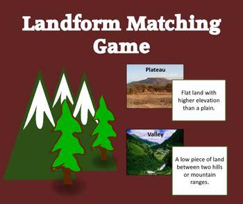 landform matching game  simply social studies tpt