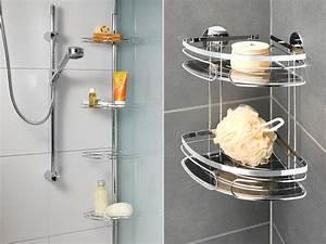 Etagere Dans La Douche : 5 astuces de rangement salle de bain ~ Edinachiropracticcenter.com Idées de Décoration