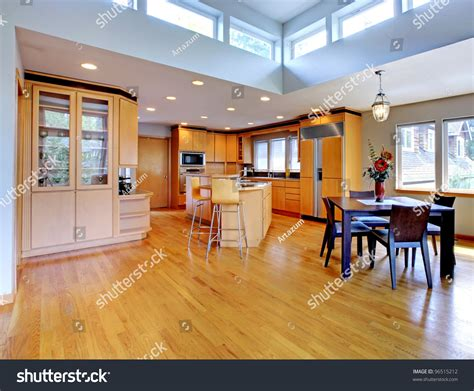 yellow kitchen floor large luxury modern wood kitchen with granite counter tops 1218