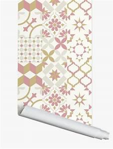 Papier Adhésif Carreaux De Ciment : papier peint carreaux ciments papermint ~ Premium-room.com Idées de Décoration