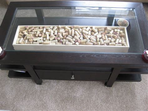Coffee Table Glass Top Storage