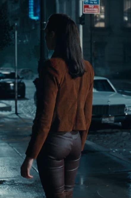 justice league gal gadot brown suede jacket prostar jackets