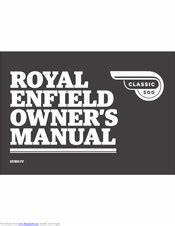 Royal Enfield Classic 500 Manuals