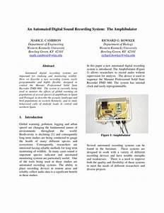 Pdf  An Automated Digital Sound Recording System  The