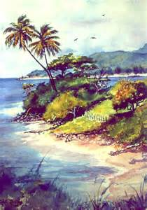 Painting Puerto Rico Island