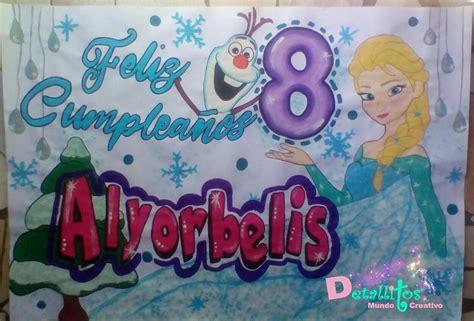 Pancarta de cumpleaños frozen Pancarta de cumpleaños