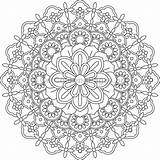 Mandala Coloring Pages Flower Adult Getcoloringpages Dot Techniques Painting Colouring Mandalas Templates Pattern Books sketch template