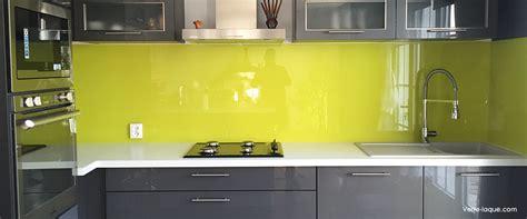 verre credence cuisine choix des couleurs professionnel du verre laqué sur