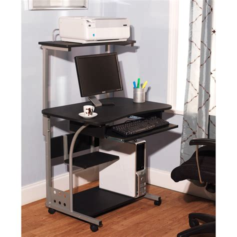 mainstays computer desk black silver finish mainstays solar glass top desk black walmart com