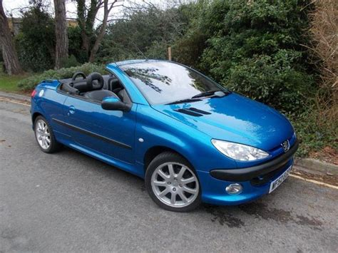 Peugeot 206 Convertible by Used 2002 Peugeot 206 Convertible Blue Edition 2 0 Se 2dr