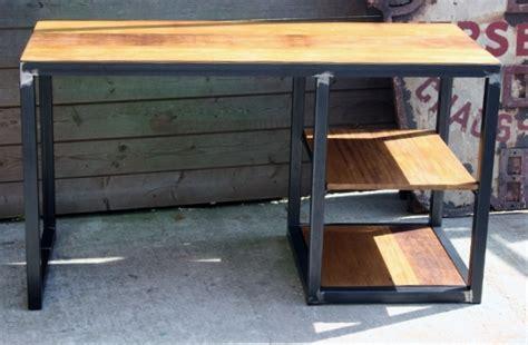 bureau industriel metal bois brocantetendance fabrication sur mesure création métal bois