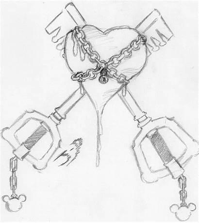Lock Key Heart Drawing Flashback Jp 100pc