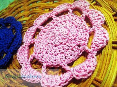 tatakan gelas pola rajut crochet pemula  nisa